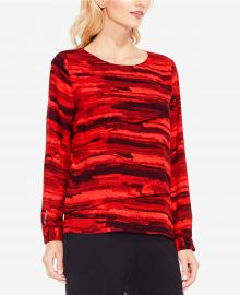 Printed Top by Vince Camuto at Macys