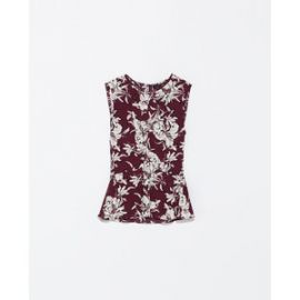 Printed Top with Gathered Front x at Zara