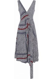 Printed silk wrap dress by Derek Lam at The Outnet