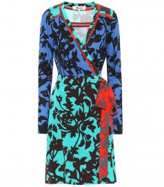 Printed silk wrap dress by DvF at Mytheresa