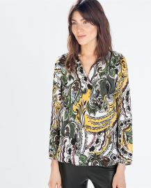 Printed Blouse at Zara