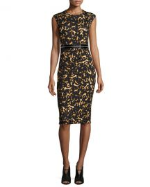 Printed Bodycon Zip Dress by Alexander McQueen at Neiman Marcus