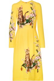 Printed Cady Midi Dress by Dolce & Gabbana at Net A Porter