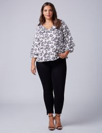 Printed Kimono Sleeve Top by Lane Bryant at Lane Bryant