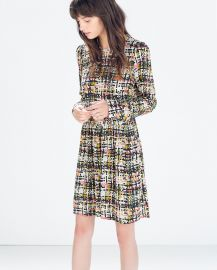 Printed Long Sleeve Dress at Zara