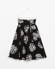 Printed Midi Flare Skirt at Zara