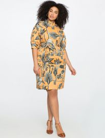 Printed Mock Neck Dress Eloquii at Eloquii