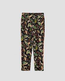 Printed Pajama Style Trousers at Zara