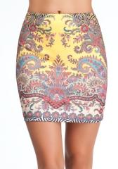 Printed Scuba Mini Skirt at Bebe