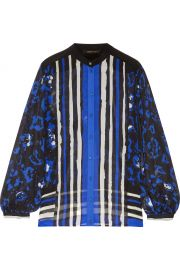 Printed Silk Crepe de Chine Blouse Roberto Cavalli at The Outnet