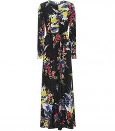 Printed Silk Maxi Dress by Diane von Furstenberg at My Theresa