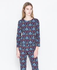 Printed Top and Trousers at Zara