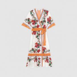 Printed Wrap Dress at Sandro