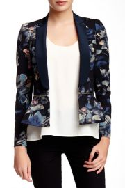 Printed Zip Waist Blazer at Nordstrom Rack