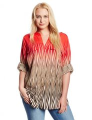 Printed blouse by Calvin Klein at Amazon