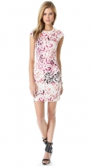 Printed cap sleeve dress by Alexander McQueen at Shopbop