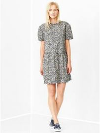 Printed drop waist dress at Gap