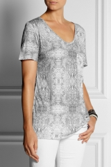 Printed modal tshirt by Lot78 at Net A Porter