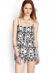 Printed romper at Forever 21