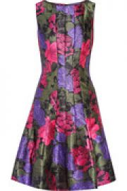 Printed satin-twill dress at The Outnet