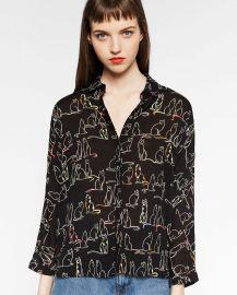 Printed shirt at Zara