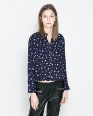 Printed shirt with pockets at Zara