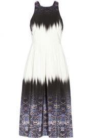 Printed silk dress by Tibi at The Outnet