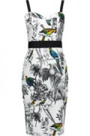 Printed stretch-cotton dress at The Outnet