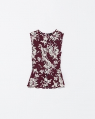Printed top at Zara