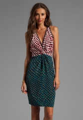 Printed twist dress by 10 Crosby by Derek Lam at Revolve