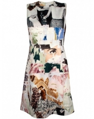 Printed wool dress by Carven at Les Nouvelles