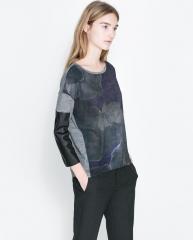 Printed wool tshirt at Zara