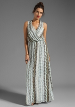 Printed wrap maxi dress by Ella Moss at Revolve
