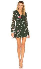 Privacy Please Castor Wrap Dress in Evergreen Floral from Revolve com at Revolve