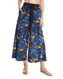 Proenza Schouler Poppy Palazzo Coverup Pants  Lapis at Neiman Marcus