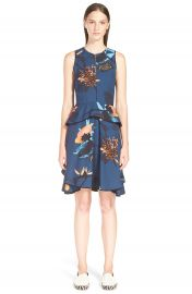 Proenza  Schouler  Tropical Print Sleeveless Ruffle Dress at Nordstrom