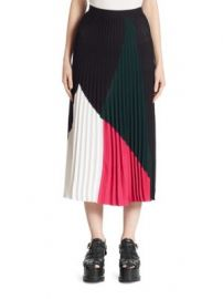 Proenza Schouler - Colorblock Pleated Skirt at Saks Fifth Avenue