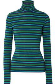 Proenza Schouler - PSWL striped stretch-cotton jersey turtleneck sweater at Net A Porter