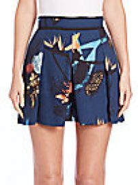 Proenza Schouler - Pleated Floral-Print Skort at Saks Fifth Avenue