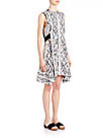 Proenza Schouler - Printed Silk Goergette Flared Dress at Saks Fifth Avenue