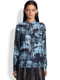 Proenza Schouler - Spray-Print Silk Blouse at Saks Fifth Avenue