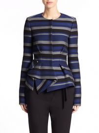 Proenza Schouler - Striped Crepe Peplum Jacket at Saks Fifth Avenue