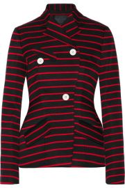 Proenza Schouler   Striped cotton and wool-blend jacquard blazer at Net A Porter