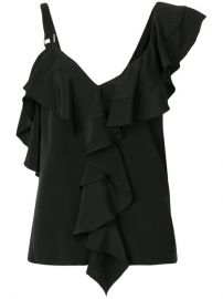 Proenza Schouler Asymmetric Ruffle Blouse  790 - Buy Online - Mobile Friendly  Fast Delivery  Price at Farfetch