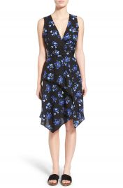 Proenza Schouler Asymmetrical Floral Print Wrap Dress at Nordstrom