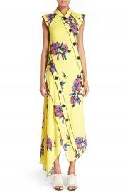 Proenza Schouler Floral Print Silk Georgette Dress at Nordstrom