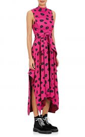 Proenza Schouler Ikat-Inspired Crepe Wrap Dress at Barneys