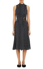 Proenza Schouler Lace-Inset Silk Midi-Dress at Barneys