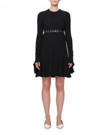 Proenza Schouler Long-Sleeve Hook Cutout Dress   Neiman Marcus at Neiman Marcus
