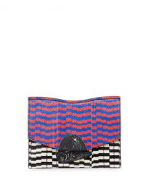 Proenza Schouler New Small Mixed-Print Snakeskin Clutch Bag at Neiman Marcus